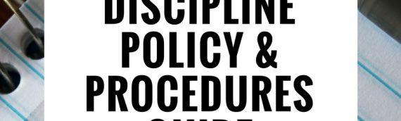 Discipline Policy & Procedures Guide